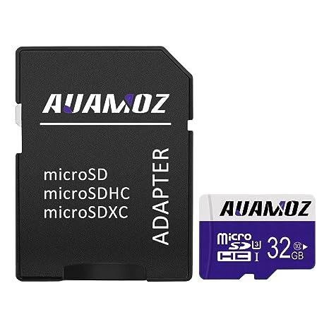 AUAMOZ® Tarjeta Micro SD de 32 GB con Adaptador, Tarjeta de ...