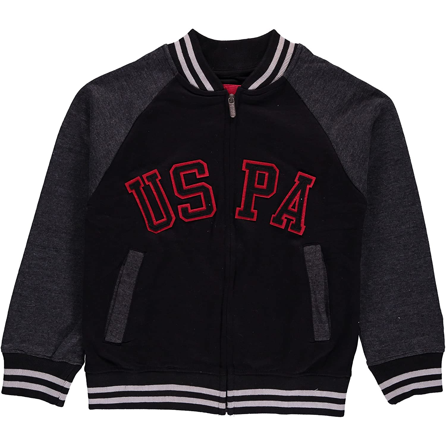 U.S. Polo Assn. Big Boys' Color-Block Fleece Jacket US Polo Association Boys 8-20 JJ00