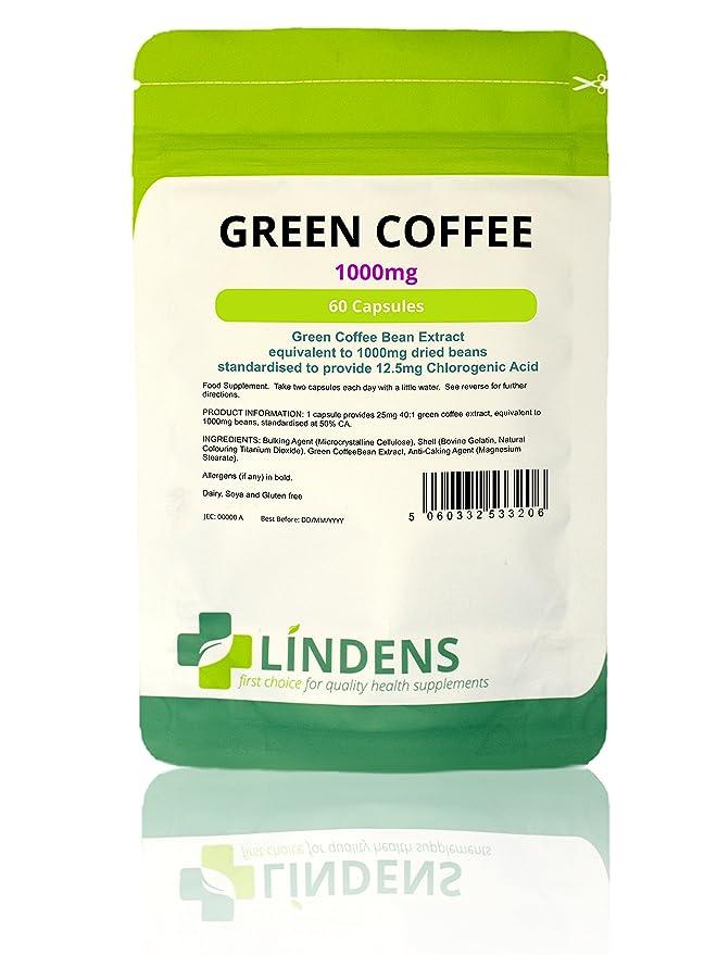 2 opinioni per Lindens Capsule di caffè verde da 1000 mg   60 Confezione   Standardizzato per