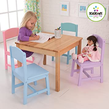Amazoncom KidKraft Seaside Table and 4 Chair Set Toys Games