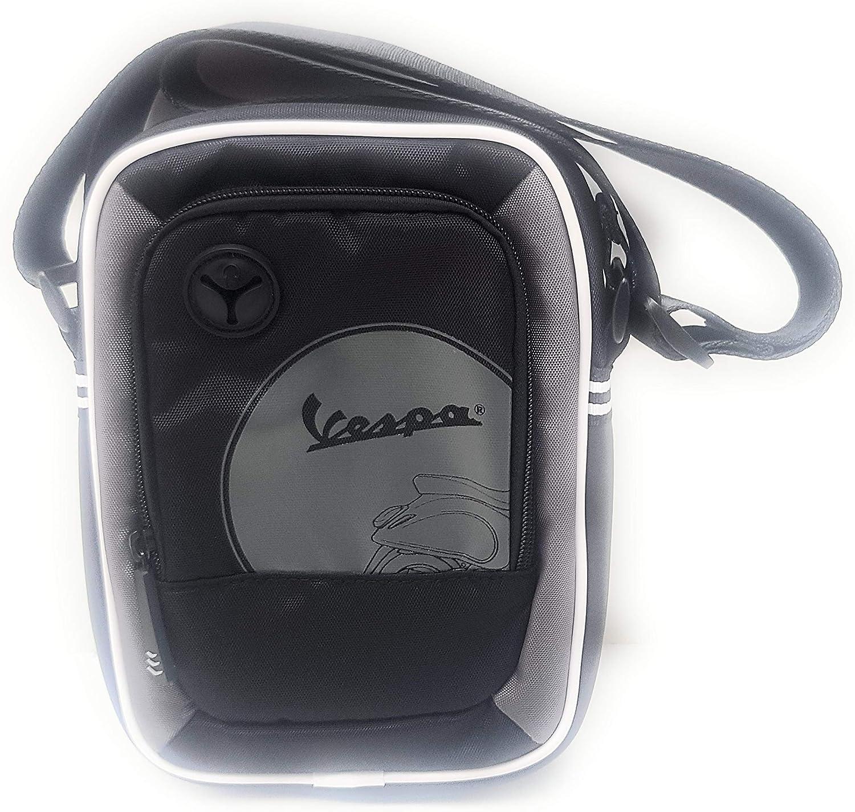 BR.EX.SA Vespa - Bolsa BOX con la correa de hombro ajustable, para hombre y mujer