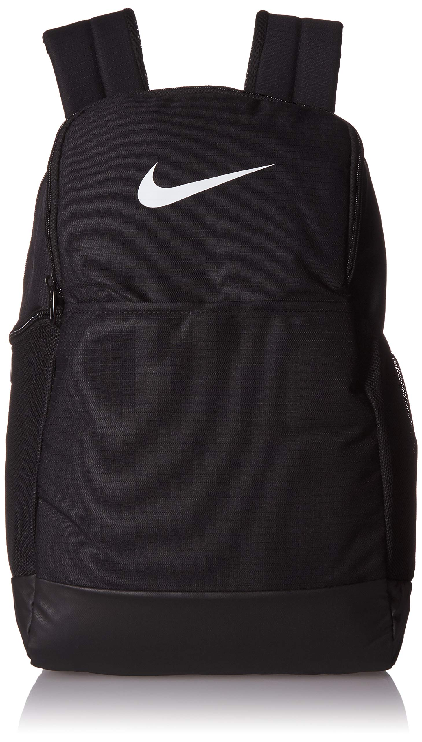 Nike Brasilia Medium Training Backpack, Nike Backpack for Women and Men with Secure Storage & Water Resistant Coating, Black/Black/White by Nike