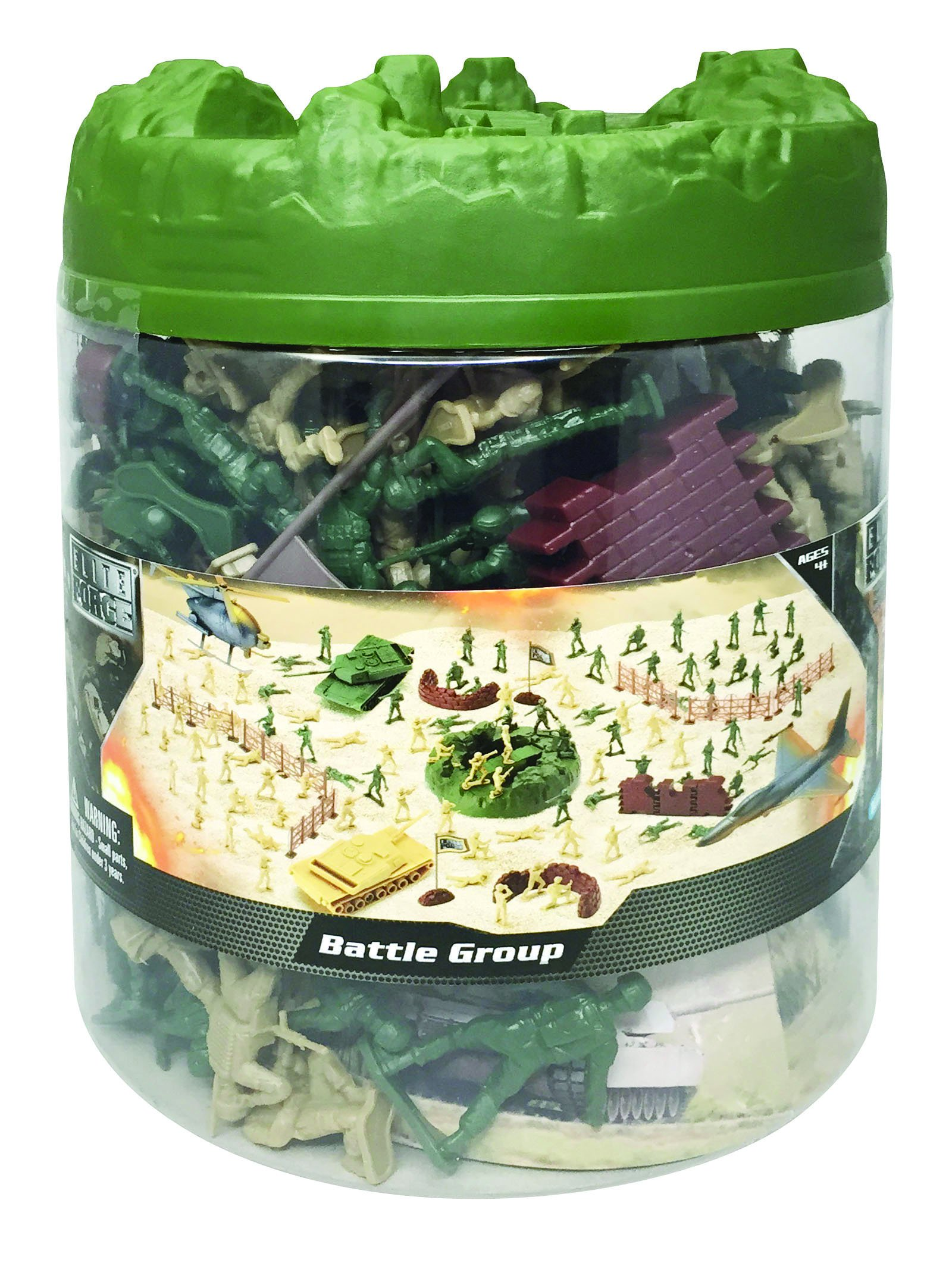 Elite Force Battle Group Army Men Play Bucket - 120 Piece Military Soldier Playset by Elite Force (Image #3)