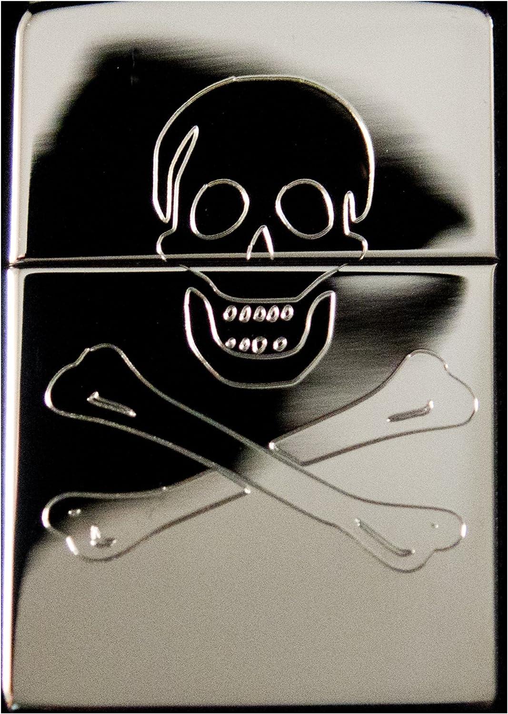 Lighter - Jolly Roger High Polish Chrome Skull and Crossbones 81iEvLVLC2L