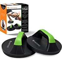 SmarterLife Push Up Bars for Men, Women - Pushup Handles for Floor with Wide Grips, Smooth Rotation, Non Slip Push Up…