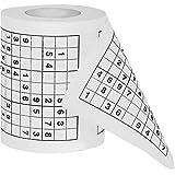 Sudoku Toilettenpapier - Rätsel Spaß für die Toilette & WC - Klopapier mit Kreuzworträtsel - Lustige Geschenkidee für Mann & Frau, Weihnachtsgeschenk, Geburtstagsgeschenk, Muttertag & Vatertag - Wichtelgeschenk