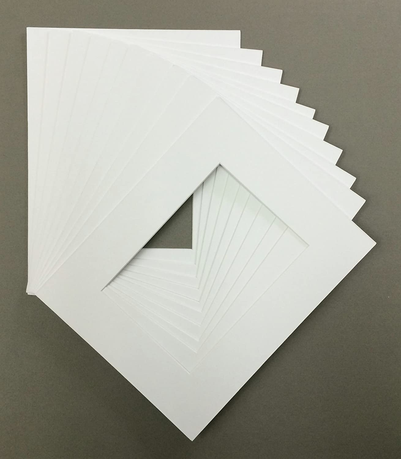 Amazon Pack Of 10 8x10 White Picture Mats Core Cut For 5x7 Pictures Arts Crafts Sewing