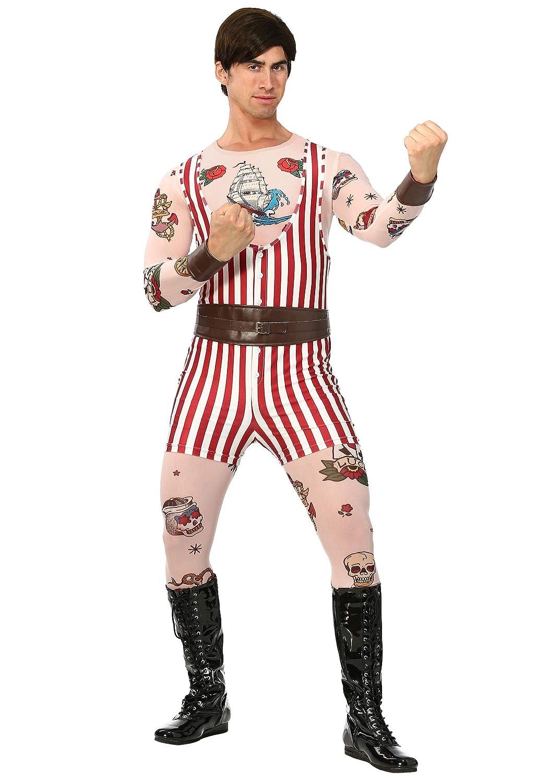 Amazon.com: Bayi Co. Hombre Vintage Strongman disfraz, M ...