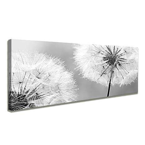 Vlies LEINWAND BILDER Pusteblume Blumen Lowenzahn Wandbild Wohnzimmer Kunstdruck