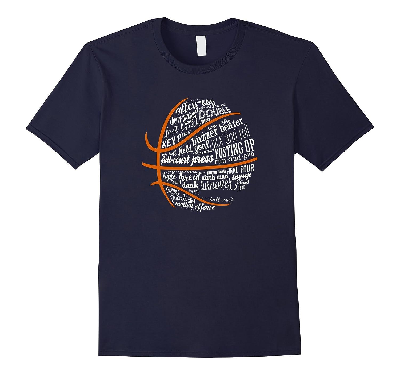 Basketball Motivational Word Cloud B Ball Terms T-Shirt-FL