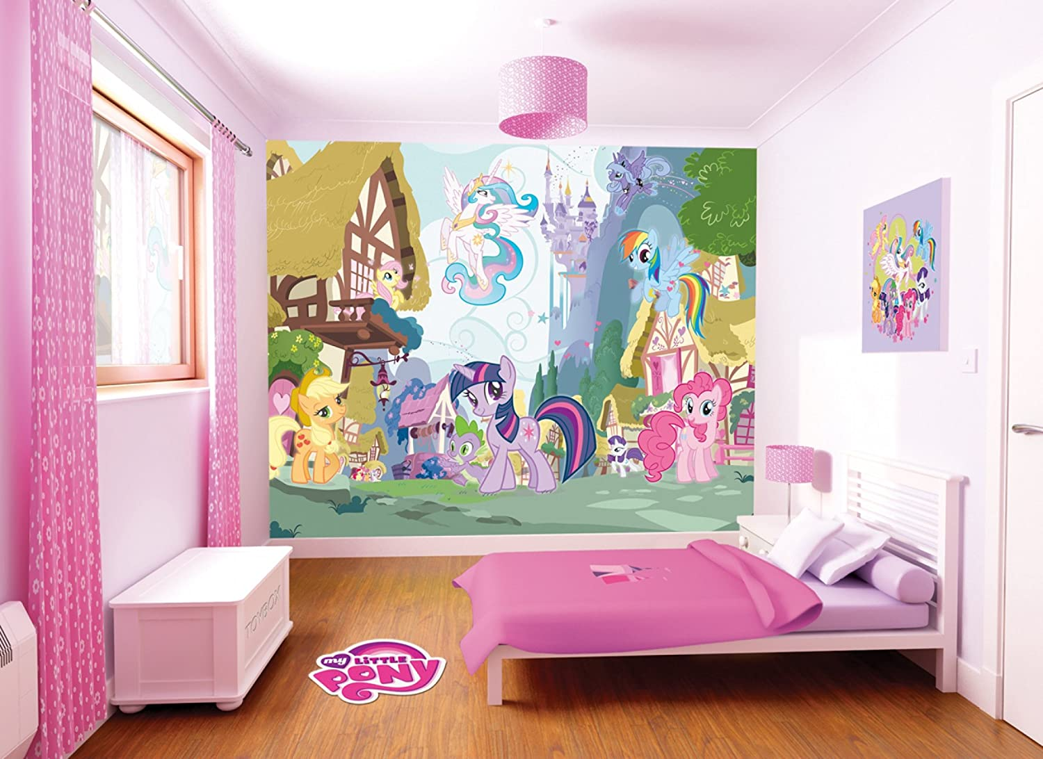 Charming Walltastic My Little Pony Wallpaper Mural, 8 X 10ft: Amazon.co.uk: Kitchen  U0026 Home Part 23