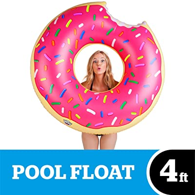 BigMouth Inc Gigantic Donut Pool Float, Funny Inflatable Vinyl Summer Pool or Beach Toy, Patch Kit Included: Toys & Games