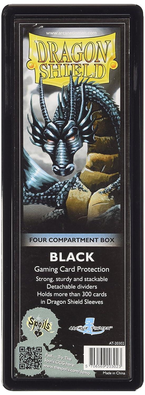Arcane Tinman AT-20302 Dragon Shield Four-Compartment Storage Box - Black