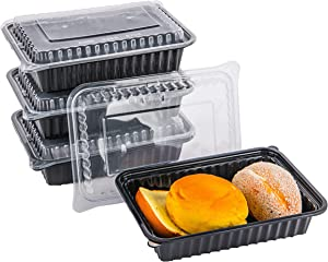CTC 100 Pack Meal Prep Containers with Lids 26oz, Disposable Microwavable Food Container, BPA Free Lunch Box, Dishwasher Safe Bento Box, Freezer Safe Adults Meal Prep, Leakproof Portion Control Plate