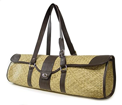 Crescent Moon St. Tropez Yoga and Pilates Mat Carrier - Brown