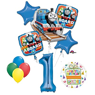 Mayflower The Ultimate Thomas The Train Engine 1st Birthday Party Supplies and Balloon Decorations: Toys & Games