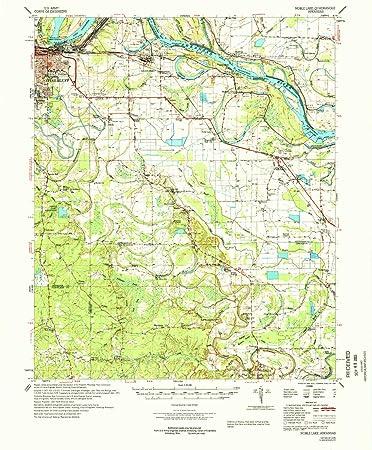 Amazoncom Yellowmaps Noble Lake Ar Topo Map 162500 Scale 15 X