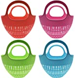 """Set of 4 Archway Lawn and Garden 14"""" x 14"""" x 12"""" Colander Gardening Basket A Sanitary and Practical Way to Collect From Your Garden While Sporting Beautiful Summer-Time Colors!"""