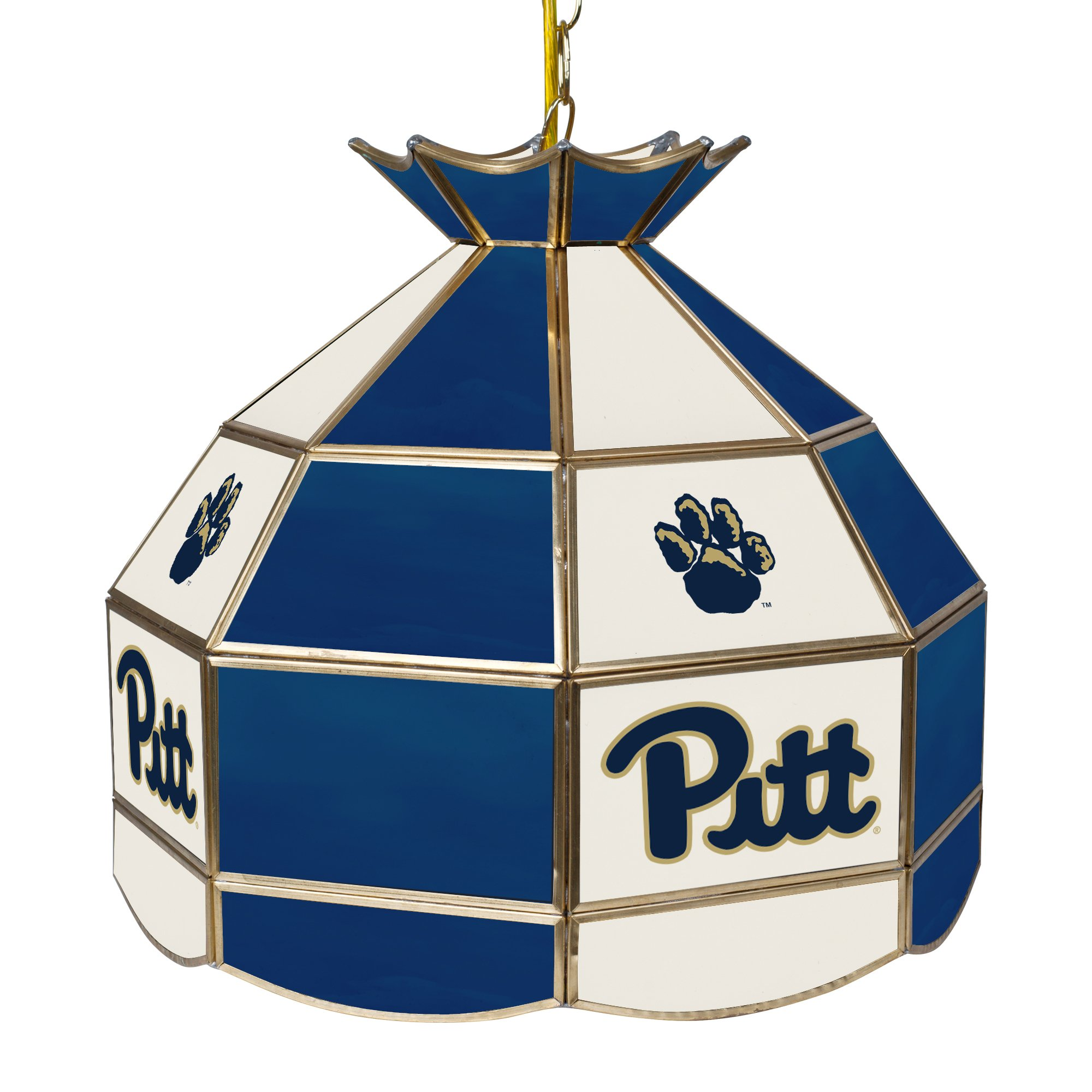 NCAA University of Pittsburgh Tiffany Gameroom Lamp, 16''