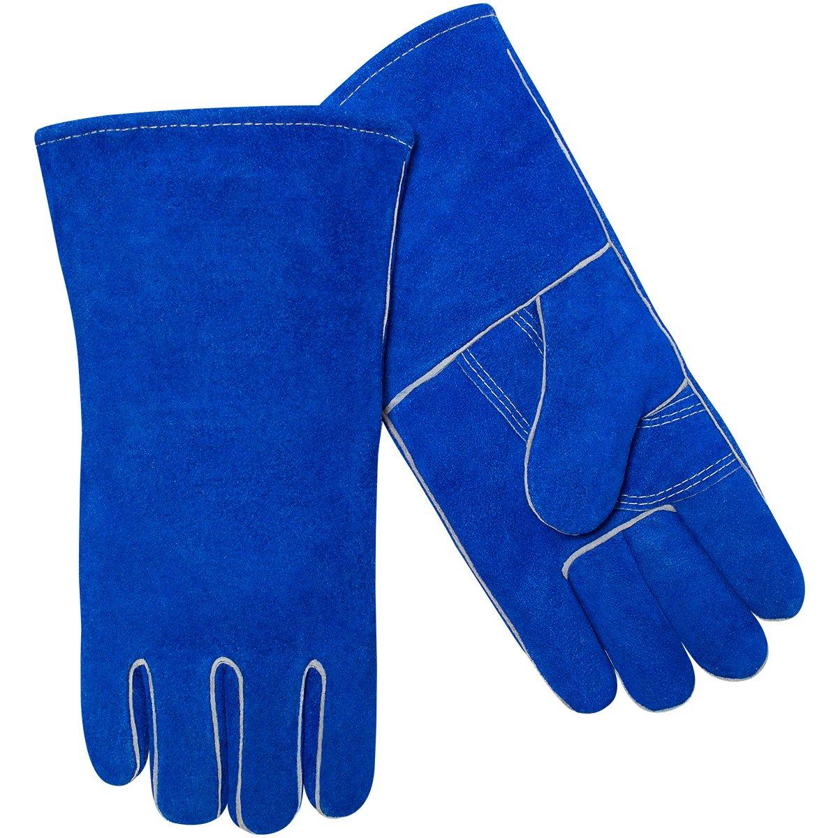 Steiner 02509-L Welding Gloves, Blue Economy Shoulder Split Cowhide Cotton Lined, Large (12-Pack)