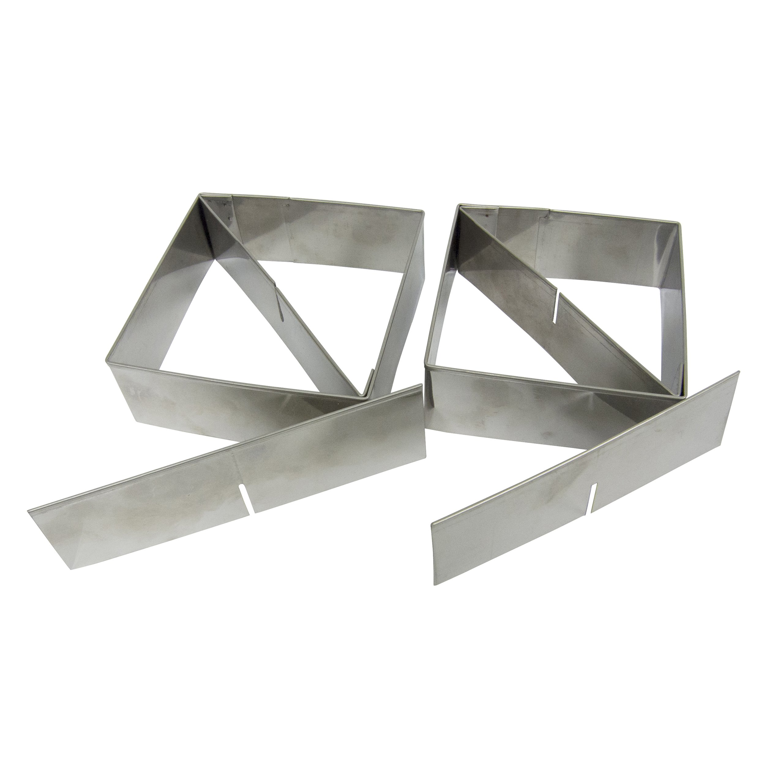 Multifunctional Pastry Cutter (2-Piece Set) - Heavy Gauge 18/10 Stainless Steel, (4-inch and 3.5-inch) with 2 Removable Blades, includes Recipes by Sweet Butter Baker (Image #2)