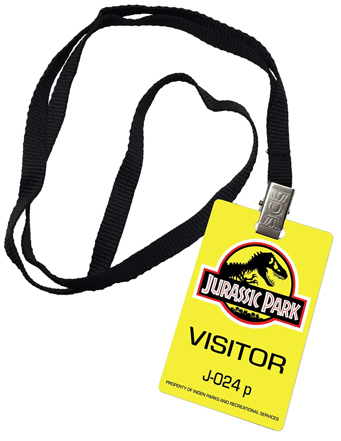 Amazon Jurassic Park Visitor Pass Novelty ID Badge Prop Costume Office Products