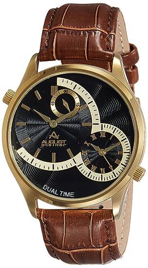 August Steiner Reloj con Movimiento Cuarzo japonés Man AS8010YGBR 42 mm: Amazon.es: Relojes