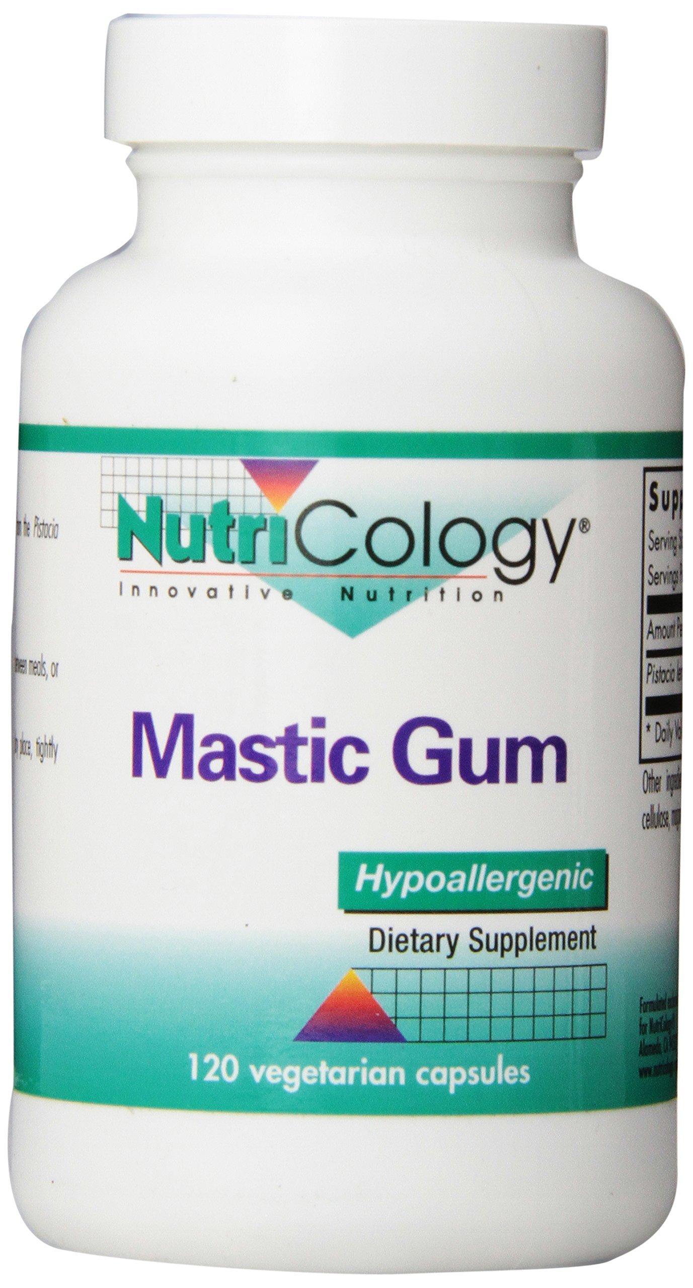 NutriCology Mastic Gum - Authentic Chios Mastiha - GI Health, Metabolism - 120 Vegetarian Capsules
