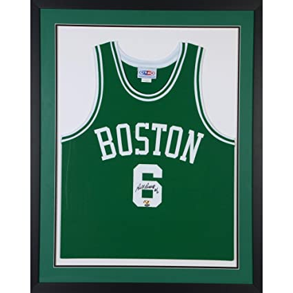 6225aded078 Bill Russell Boston Celtics Framed Autographed Green Jersey - SMI -  Autographed NBA Jerseys at Amazon's Sports Collectibles Store