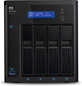 WD 24TB My Cloud EX4100 Expert Series 4-Bay Network Attached Storage - NAS - WDBWZE0240KBK-NESN