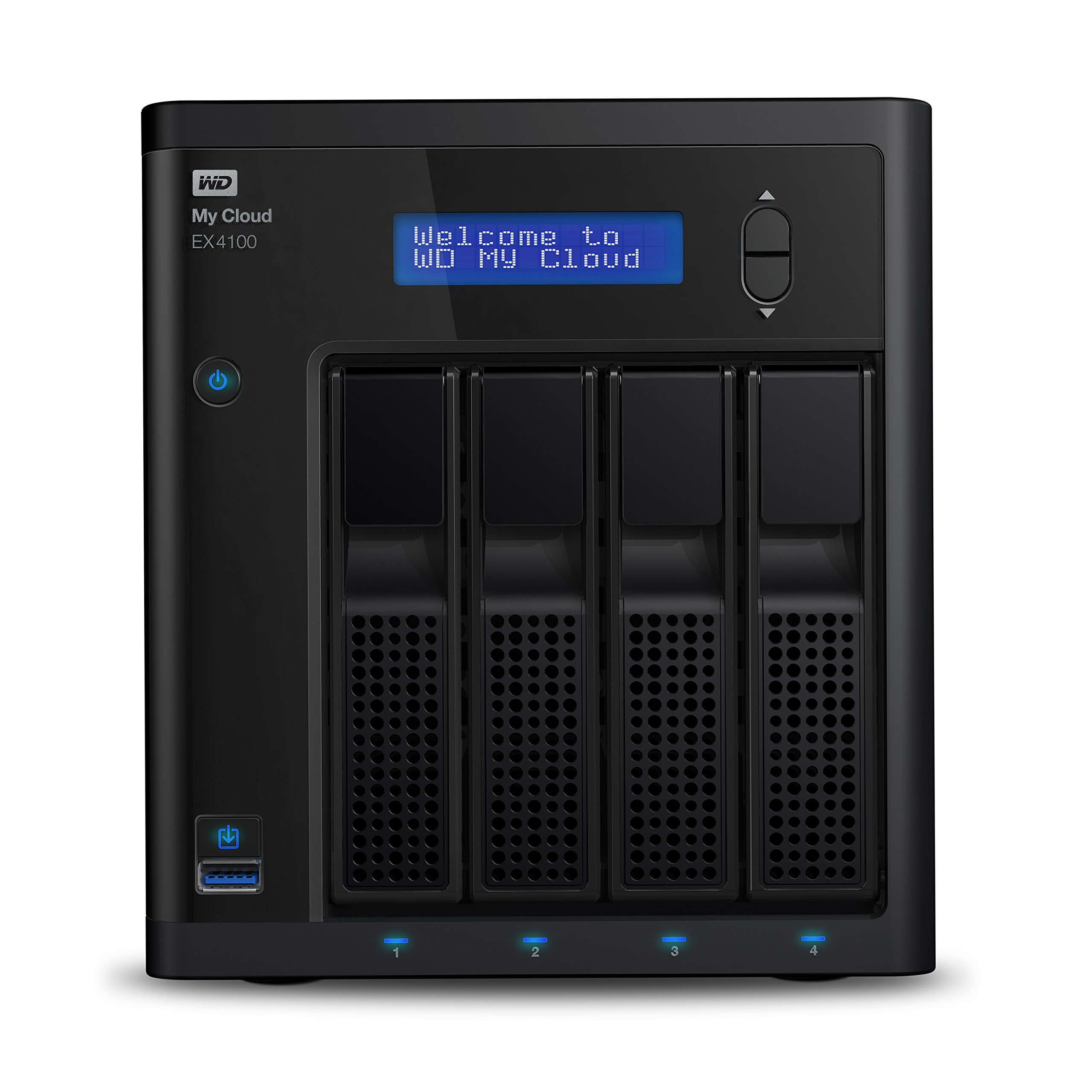 WD 24TB  My Cloud EX4100 Expert Series 4-Bay Network Attached Storage - NAS - WDBWZE0240KBK-NESN by Western Digital