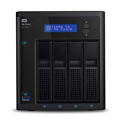 WD My Cloud EX4100 Diskless Expert Series 4-Bay Network Attached Storage - NAS - WDBWZE0000NBK-NESN Network Attached Storage at amazon