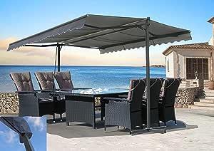 QUICK STAR - Toldo para terraza (3 x 3 m, con funda), diseño ...