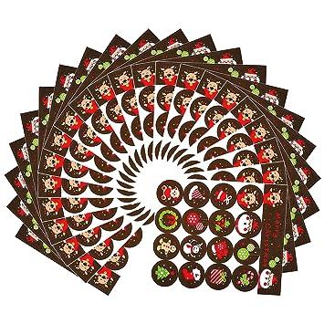500 /Álbum de Recortes Rollo de Pegatinas de /Árbol de Navidad Etiquetas Adhesivas de Navidad para Decoraciones de Navidad Manualidades