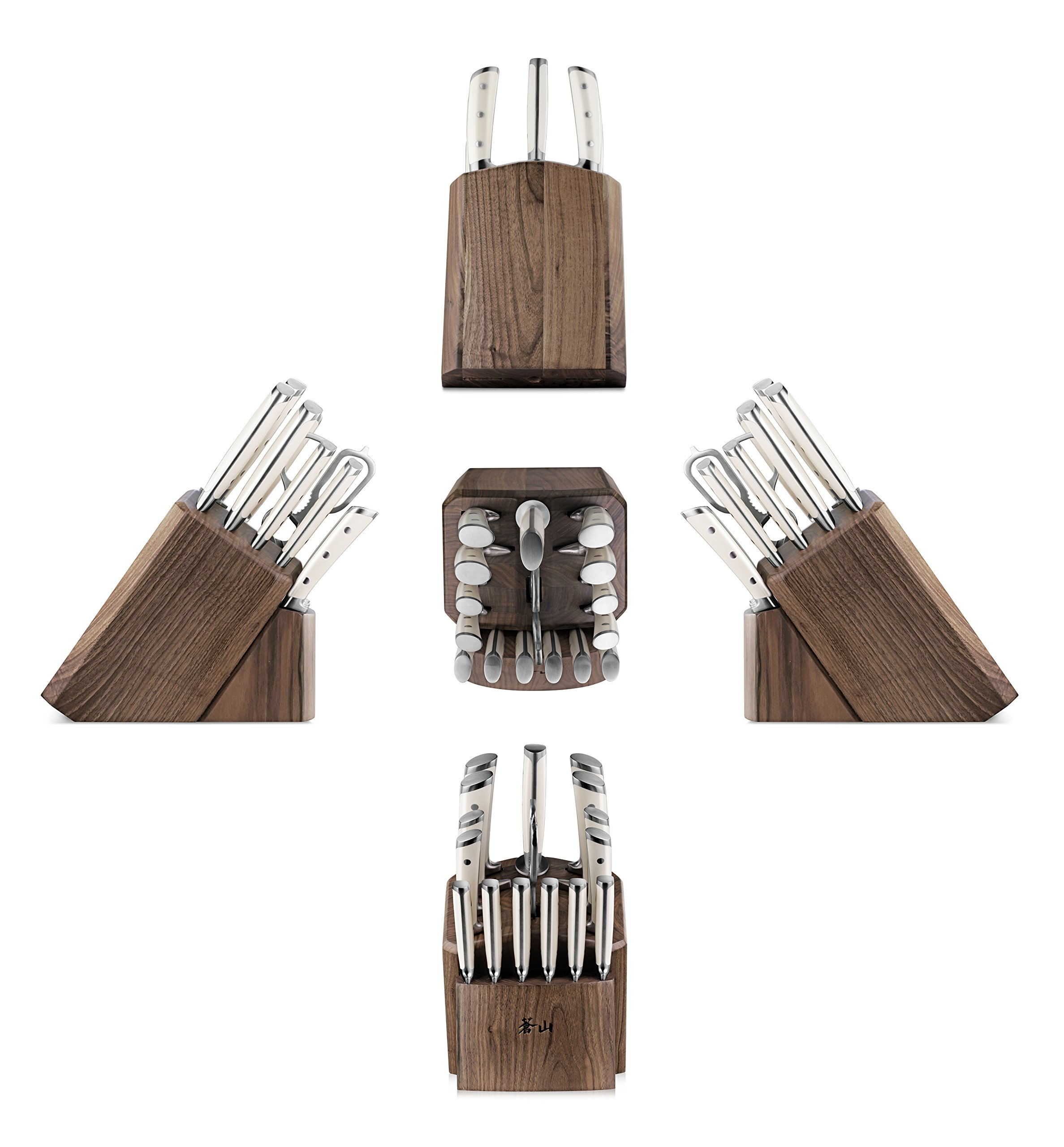 Cangshan S1 Series 1022599 German Steel Forged 17-Piece Knife Block Set , Walnut by Cangshan (Image #3)
