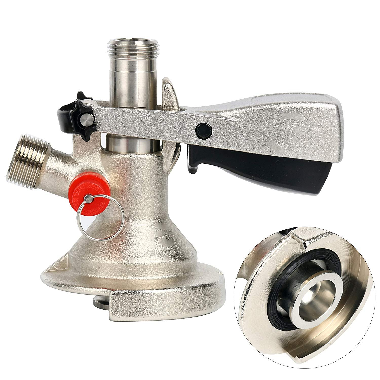 YaeBrew A Slider System Keg Coupler, Keg Beer Coupler Tap Kegerator System - Ergonomic Lever Handle