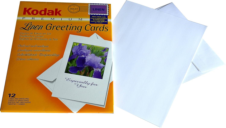 Kodak greeting cards 12 cards envelopes din a4 linen amazon kodak greeting cards 12 cards envelopes din a4 linen amazon camera photo kristyandbryce Gallery