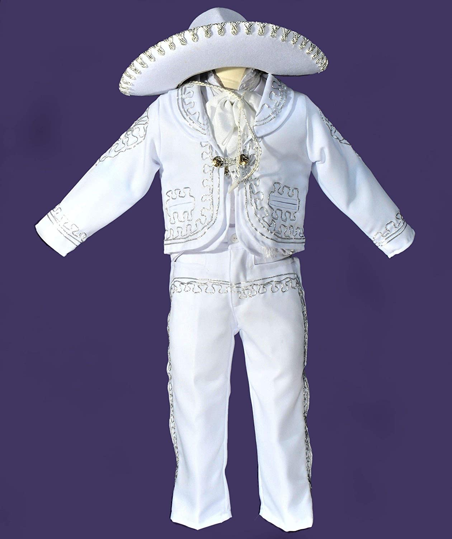Amazon.com: 5 piece charro suit/boys charro outfit/traje de ...