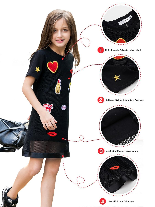 ad965eb2f Amazon.com  AuroraBaby Little Big Girls  Casual Dresses Size 7-16 ...