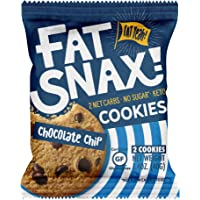 Fat Snax Cookies - Low Carb, Keto, and Sugar Free (Chocolate Chip, 6-pack (12 cookies)) - Keto-Friendly & Gluten-Free…