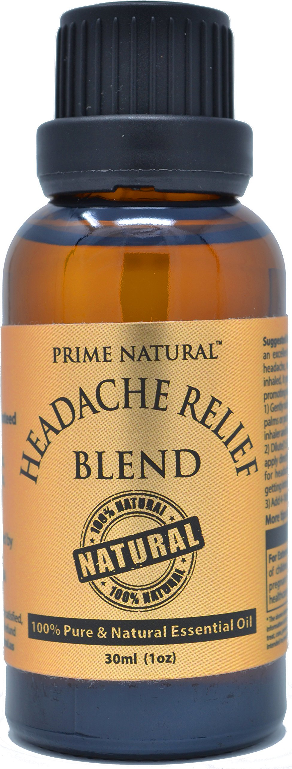 Headache Relief Essential Oil Blend 30ml/1oz - 100% Natural Pure Undiluted Therapeutic Grade for Aromatherapy, Scents & Diffuser - Migraine, Tension, Relaxation, Stress Relief, Calming