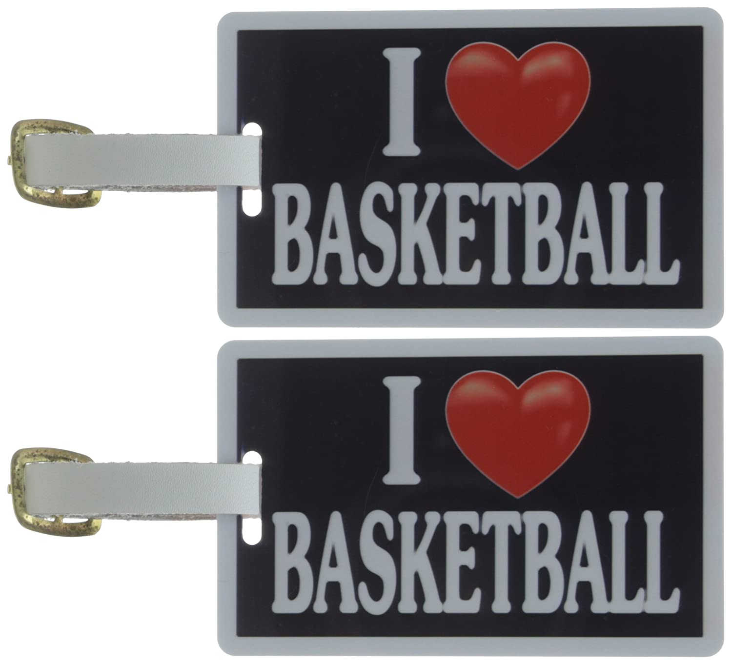 Tag Crazy I Heart Basketball Two Pack Black//White//Red