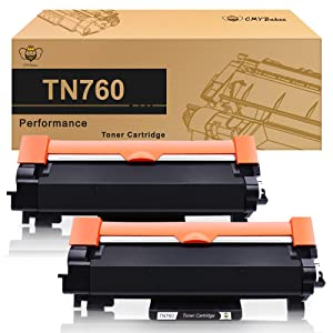 CMYBabee Compatible Toner Cartridge Replacement with Chip for Brother TN760 TN730 TN-760 TN-730 for Brother MFC-L2730DW DCP-L2550DW HL-L2350DW (Black, 2 Pack)