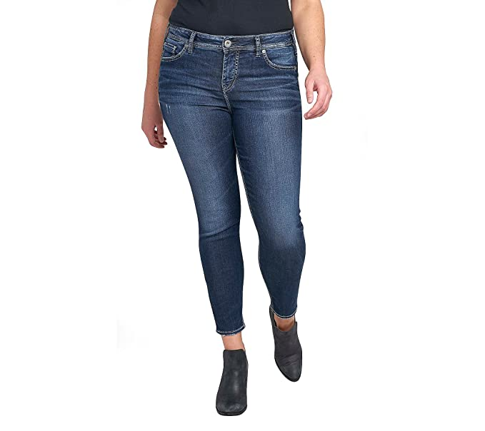 bb37d39f Silver Jeans Women's Plus Size Co Mazy High Rise Ankle Skinny, Dark Ultra  Soft Stretch, 18x27: Amazon.ca: Clothing & Accessories