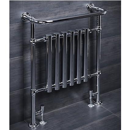 ENKI radiador para calefacción central con toallero cromado 963 x 673 mm