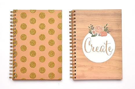 amazon com american crafts create gold craft spiral journal