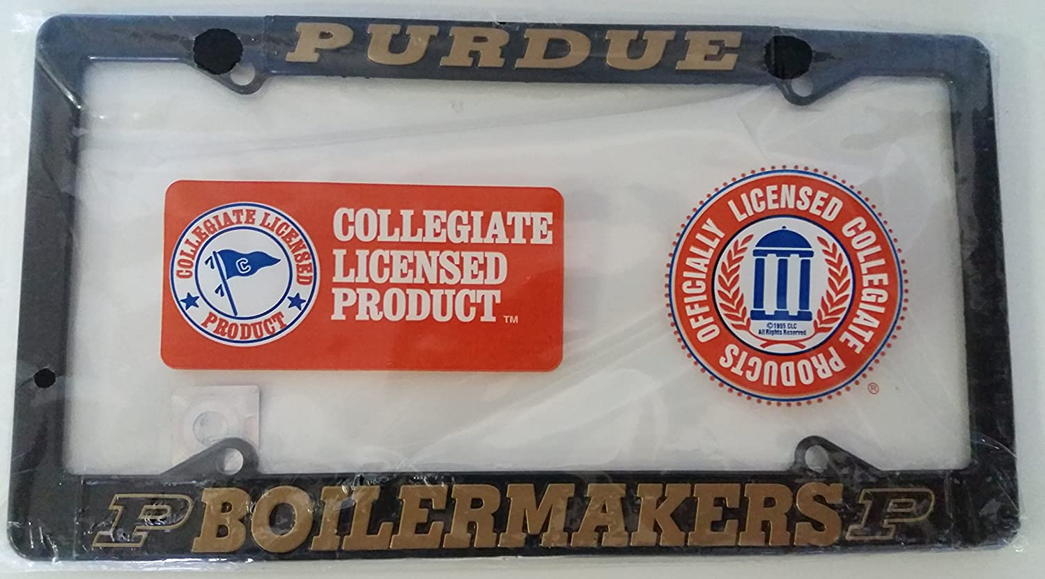 Auto Car Truck Chrome Boiler Up New Purdue Boilermakers Metal License Plate Frame