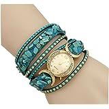 Aelo Fashion Bracelet Analogue Gold Dial Girls Watch - Www1041