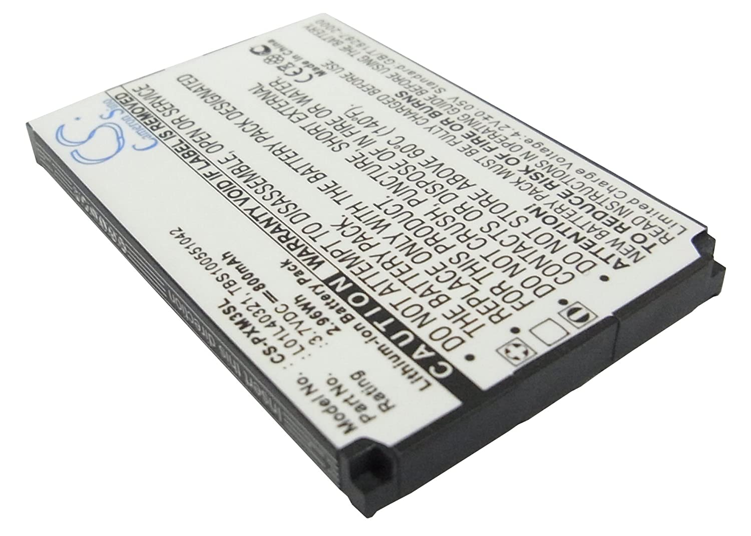 800mAh Battery For Pioneer GEX-XMP3, XMP3i, XMP3H1 VINTRONS Digi-Tech CS-PXM3SL