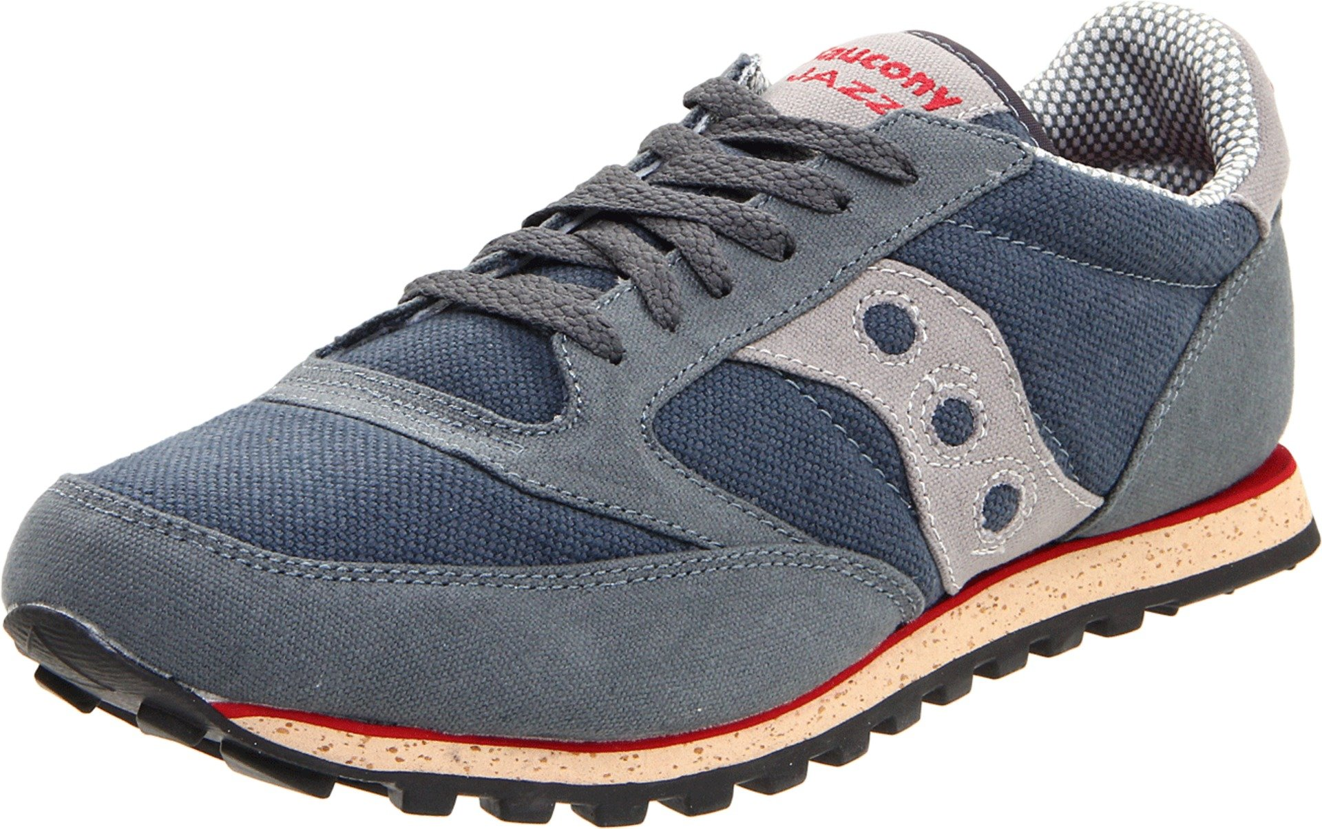 Saucony Originals Men's Jazz Low Pro Vegan-M, Grey/Red, 11 M US